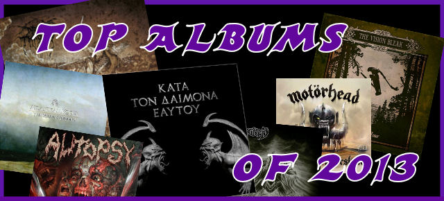 Albums Of The Year 2013