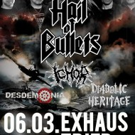 Hail Of Bullets, Ichor, Desdemonia, Trier Exhaus, 06/03/14