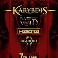 Karybdis, Raze the Void, Haema and Bearfist at the Portland Arms, Cambridge, 7/4/18